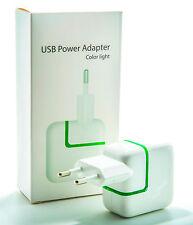 Alimentatore USB Adattatore 2.1a 10w CARICABATTERIE spina iPhone iPad bianco universale