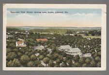 [49777] OLD POSTCARD PANORAMIC VIEW SHOWING LAKE PARKER in LAKELAND, FLORIDA