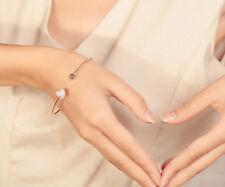 Sweet Jewelry Gold Plated Heart Shape Open Bangle Fashion Korean Women Bracelet