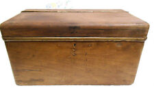 Antique Wooden Box, Possiblly Early Car / Charabanc Boot Trunk or Tool Box