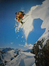 "Skiing POSTER ""Motivational, Inspirational"" BRAND NEW Licensed Art"