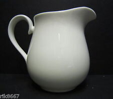 1 pint Milk Jug Bulbous Shape White English Fine Bone China By Milton China