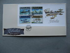GIBRALTAR, cover FDC 2010, S/S100 years aviation seaplanes flying-boat