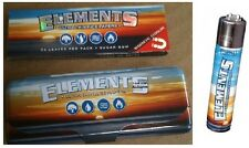 ELEMENTS 1.25 Cigarette Rolling Papers + METAL STORAGE TIN CONTAINER + LIGHTER!