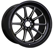 XXR 557 18x8.5 5x100/114.3 +35 Black/Milled Wheels Fits S2000 Rsx Tsx TL Speed 3