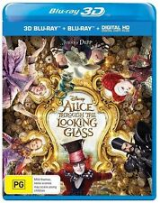 Alice Through The Looking Glass 3D + 2D Blu-ray + DC 2 DISC SET  NEW & SEALED