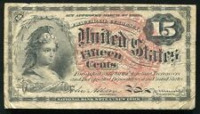 15 Fifeen Cents Fourth Issue Fractional Currency Note