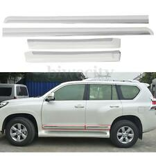 4Pcs Body Side Door Molding Trim For Toyota Land Cruiser Prado FJ150 2014-2016