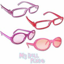 "Doll Eye Glasses Sunglasses 4pc Set Pink Purple Lot made for 18"" American Girl"