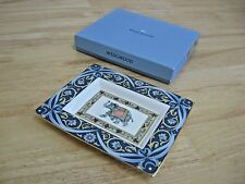 Wedgwood Bone China - Blue Elephant Pattern - Rectangular Tray - MIB