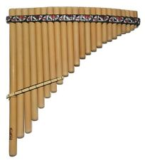 Professional 23 Pipes Inka Motifs Curved Pan Flute Antara - Watch Video
