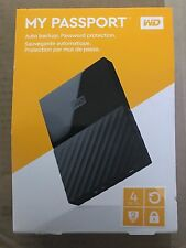 NEW!! SEALED!! Western Digital My Passport 4TB Portable Hard Drive