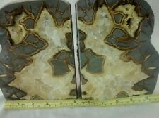 Stunning Septarian dragon stone geode nodule natural  specimen bookends