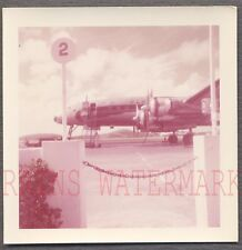 Vintage 1957 Photo Lockheed Constellation Airplane at Airport 747923