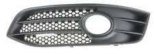 AUDI S3 08-12 FL LEFT FRONT BUMPER GRILLE FOG LIGHT TRIM BEZEL GENUINE BLACK