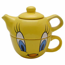 Tweety Pie Teapot and Cup Set Tea Pot Looney Tunes Cartoon TV Show Kitchen Mug