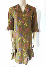 Vintage 1920s 20s Silk? Handmade Day Dress Floral UK Size Size 10 - 12