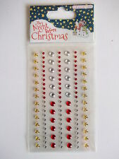 The Night Before Christmas Adhesive Gems-  stickers - red gold clear