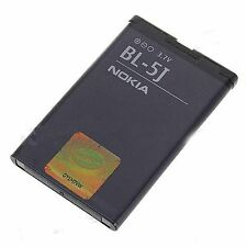 NOKIA BL-5J Cell Phone OEM Battery C3 Lumia 520 521 5230 Nuron 5800 N900