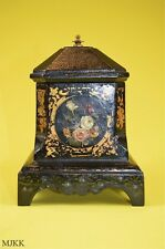 Original antique Victorian cast iron tobacco jar Coalbrookdale gilded decoration