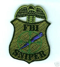 FBI FEDERAL BUREAU OF INVESTIGATION SNIPER SUBDUED FBI OD SWAT FBI SNIPER PATCH