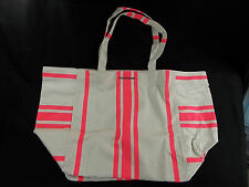 NWT Victoria's Secret Summer Swim Tote Bag Satchel Carryall Pink & Natural