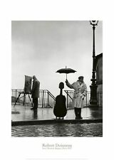 Musician in the Rain by Robert Doisneau Art Print Paris 1957 Photo Poster 20x28