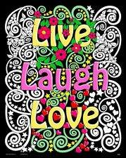 Live Laugh Love - Large 16x20 Inch Fuzzy Velvet Coloring Poster