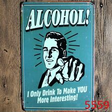 Metal Tin Sign alcohol!  Decor Bar Pub Home Vintage Retro Poster Cafe ART