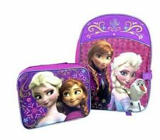 Girl's Disney Princess Frozen Ana Elsa Backpack with Attachable Lunch Kit