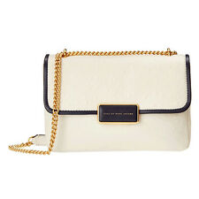 Marc By Marc Jacobs Rebel 24 White Embossed Ostrich Bag Shoulder Handbag Chain