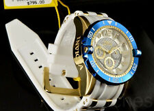 Invicta Pro Diver Gen III 50MM Chrono 18K GP Deep White Dial SS White Poly Watch