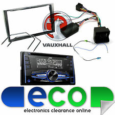 Vauxhall Astra H Jvc Doble Din CD MP3 USB AUX auto estéreo KIT FASCIA Negro Piano