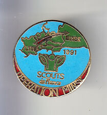 RARE PINS PIN'S .. ONG SCOUT SCOUTISME RUSSIE 1991 MINSK BIELO OPERATION ~BS