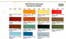 1976 DODGE TRUCKS VAN PICKUP FARGO 76 PAINT CHIPS DUPONT