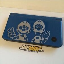 Mario & Luigi Vinyl Sticker For NINTENDO DSI XL - Silver Black White Red Or Pink
