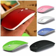 2.4GHz Wireless USB Cordless Optical Scroll Mouse For PC Laptop Computer Rosso