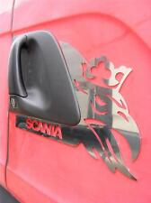 Set of 2 pcs  Door Decoration For SCANIA Made ​​Of Polished Stainless Steel