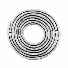 Argent antique enroulé donut metal charm pendentif 39mm-pack de 1 (B109/1)