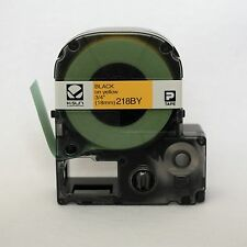 "K-Sun 218BY Black on Yellow PX Tape 3/4"" KSun 18mm 218BYPX"