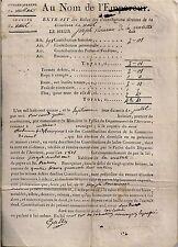 235-AU NOM DE L'EMPEREUR-RÔLE DES CONTRIBUTIONS-SIEUR DE LA VALETTE-MILLAU-1815