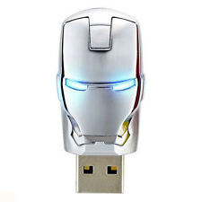 8GB Iron Man Silver With LED Designer Pen Drive Glowing eyes