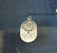 Unique Vintage Sterling Silver Canadian Maple Leaf Olympic Rembrandt Charm 1.8gr