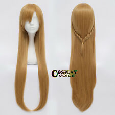 Sword Art Online Asuna Yuuki 80CM Long Wavy Brown Fashionable Anime Cosplay Wig