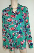 New! SUSSAN green floral light shirt ~ size 16 18