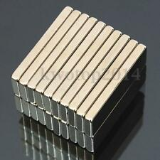 20Pcs Super Strong Block Cuboid Magnets 30x10x3mm Rare Earth Neodymium N50