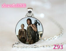 Zombie The Walking Dead Cabochon Glass Pendant Necklace Man Woman gift / Z93