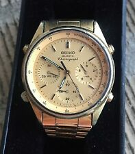 Vintage 1980s Seiko Quartz Chronograph Watch 7A28-7029 Running to Restore