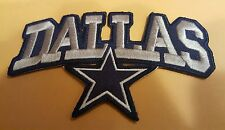 "Dallas Cowboys NFL vintage CLASSIC embroidered iron on patch 4""x 2.5"" Awesome"