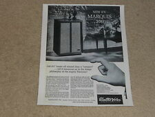 Electro-Voice Marquis 300 Speaker Ad, 1963, Article and Specs, Rare Info